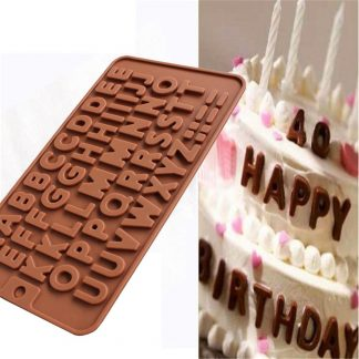 26 Letter Silicone Chocolate Cake Mold Crafts Decoration