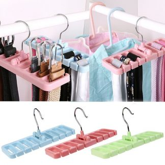 Wardrobe Belt Tie Scarf Hook Organizer