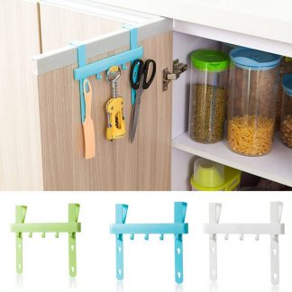 Kitchen Door Rack Hooks Hanging Storage