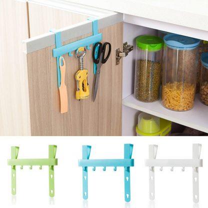 Kitchen Door Rack Hooks Hanging Storage