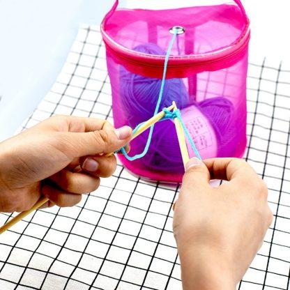 Mesh Bag Lightweight Portable Yarn Crochet Storage Organizer