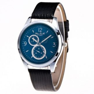 Graceful Quartz Movement PU Leather Unisex Men Women Wrist Watch