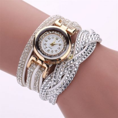 Multi Layers Crystal Rhinestone Band Quartz Women Wrist Watch
