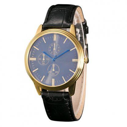 Analog Alloy Quartz Men Wrist Watch Leather Band Sport Watch