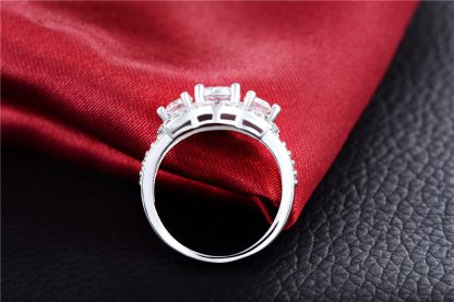 Shiny Clear High Quality CZ Sterling Silver Plated Women Fashion Ring