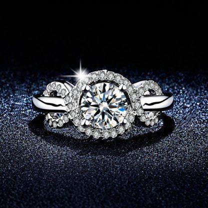 Clear Round Crystal High Quality Zircon Women Fashion Ring