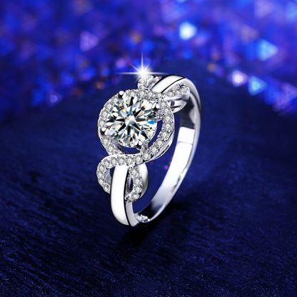 Clear Round Crystal High Quality Zircon Women Fashion Ring