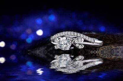 Beautiful White Gold Plated Zircon Women Fashion Jewelry Ring