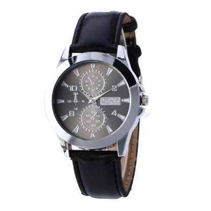 Delicate Three Areas Full Chronograph Men Quartz Movement Watch