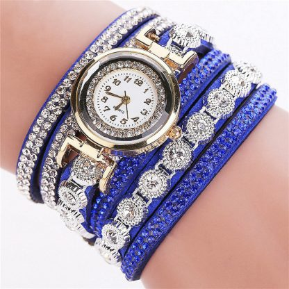 Multi-Layers Analog Quartz Rhinestone Women Girls Watch Bracelet