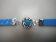Crystal Austrian CZ PU Leather Band Bracelet