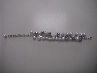Simulated White or Black Pearls Women Girls Bracelet
