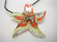 Star Fish Colorful Glass Women Pendant Necklace Fashion Jewelry