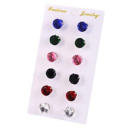 Multi-Color Crystal Women Jewelry Fashion Earrings Set