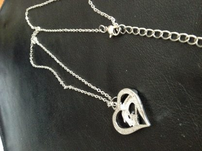 Mother Baby Hand In Hand Heart Women Pendant Necklace Fashion Jewelry