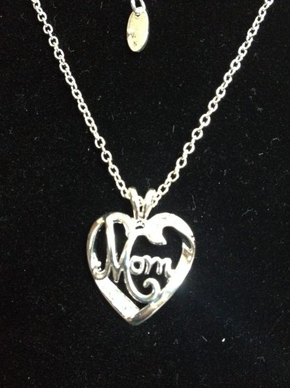 Mom Heart Rhinestones Women Pendant Necklace Fashion Jewelry