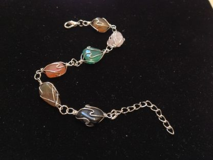 Multi Color Natural Stone Women Bracelet Fashion Jewelry