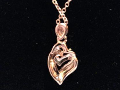 Double Hearts Crystal Pendant Necklace Earrings Set Women Fashion Jewelry