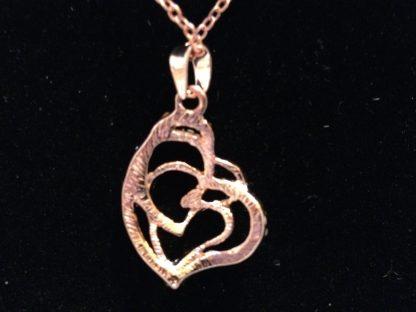 Heart Crystal Pendant Necklace Earrings Set Women Fashion Jewelry