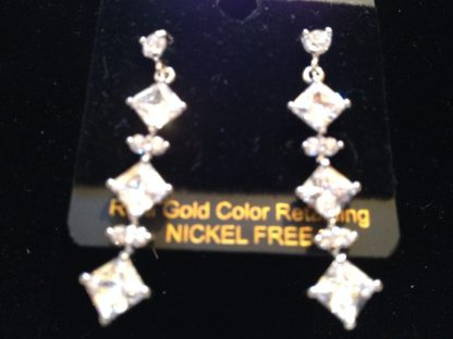 Clear Lab Sapphire Women Earrings Fashion Jewelry