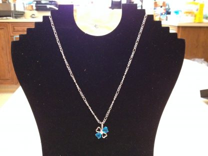 Blue Crystal Rhinestones Pendant Necklace Women Fashion Jewelry