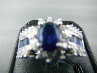 Classic Blue Lab Sapphire Rhinestones Women Ring Fashion Jewelry