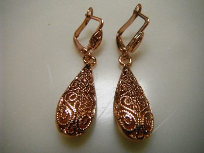 Classic Drop Rose Gold Plated Women Earrings Fashion Jewelry