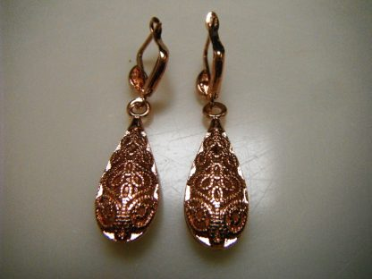 Classic Drop Earrings Rose Gold Plated