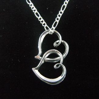 Lovely Double Hearts Pendant Necklace
