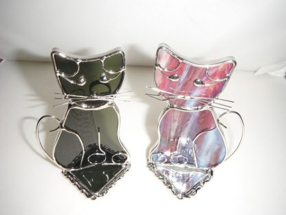 Stained Glass Cat Pen/Note/Recipes Holder