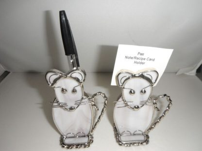 Stained Glass Mouse Pen/Note/Recipe Holder