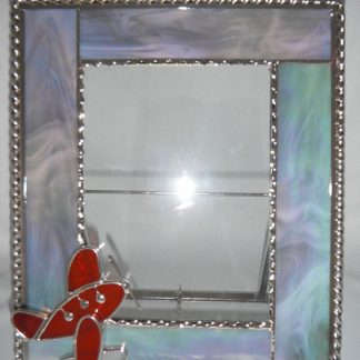 Stained Glass Handmade Picture Air Plane Frame