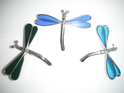 Stained Glass Dragonfly Window Suction Cup