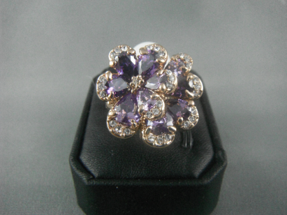 Genuine Austrian Purple Women Ring Fashion Jewelry