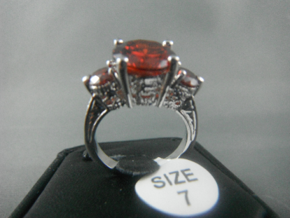 Lab Ruby Rhinestones Women Ring Fashion Jewelry