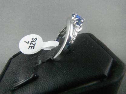 Small Blue Lab Sapphire Rhinestones Women Ring Fashion Jewelry